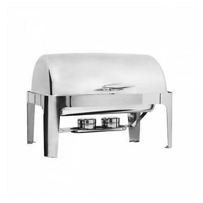 Chafer Chafing Dish Roll Top Fuel Heated, 1/1 Food Pan Deluxe Buffet Warmer NEW