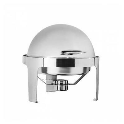 Chafer Chafing Dish with Round Roll Top Fuel Heated Buffet Warmer Bain Marie NEW