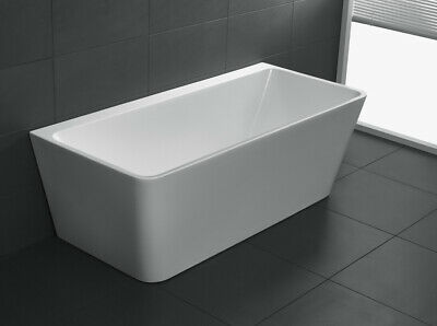 1700mm SQUARE BACK TO WALL BATH FREE STANDING