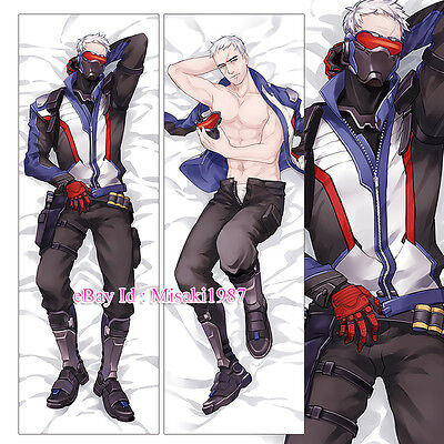 Overwatch Dakimakura Soldier 76 Anime Hugging Body Pillow Case Cover