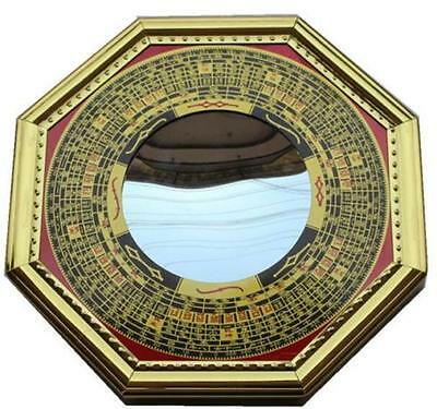 DZ1203 Feng Shui Chinese Era House Geomantic I-Ching Bagua Concave Mirror Solar♫