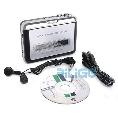 NEW Tape to PC USB Cassette to MP3 Converter Capture Digital Audio Music Player