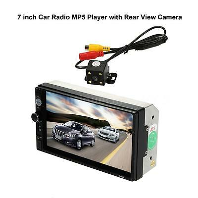 "7"" Car Radio MP5 Player HD 2 Din Bluetooth USB/TF FM Universal With Rear Camera"