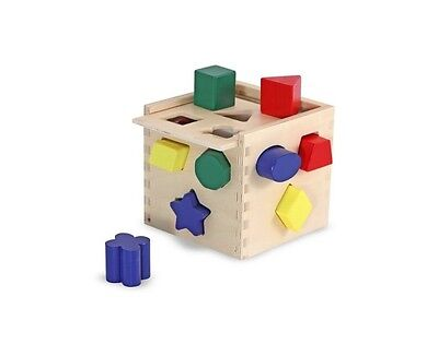 Educational Toys For 2 Year Olds Color Learning Shape Sorting Game Wooden Cube