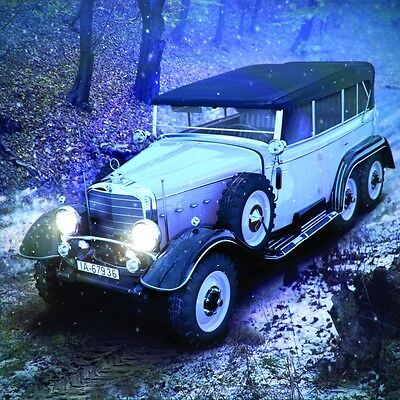 Icm 24012 Typ G4 Soft Top, Wwii German Personnel Car 1:24