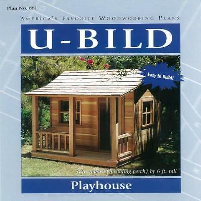 Woodworking Project Paper Plan For Playhouse No. 881 U-Bild New