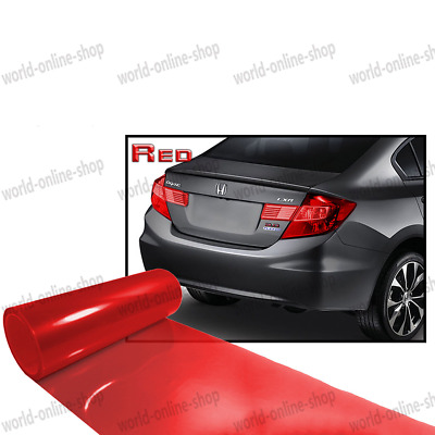 "12"" x 48"" Bright Red Car Headlight Taillight Fog Wrap Cover Vinyl Film Tint Cool"