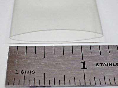 "Heat Shrink Tube: Clear - 3/4"" - 5 feet - 2:1 shrink ratio"