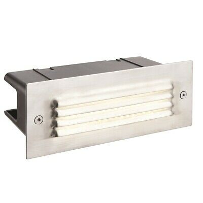 Saxby Endon - Seina Louvre - Steel Outdoor Garden Recessed LED Wall Brick Light