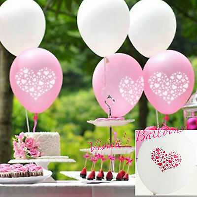 Wedding Balloons. 6/12/18. Pink/white Heart-White/pink Heart. Engagement.  Party