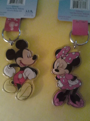 Disney Mickey mouse Minnie mouse keychains