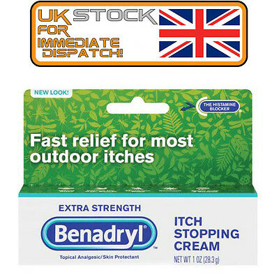 Benadryl Topical Itch Stopping Cream, Extra Strength, For itches US IMPORT
