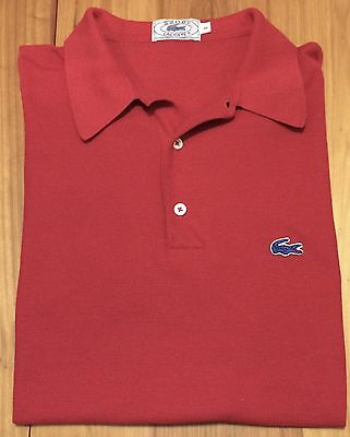 Vintage Izod Lacoste Red Polo Shirt - Large - Southern Golf Tennis VTG