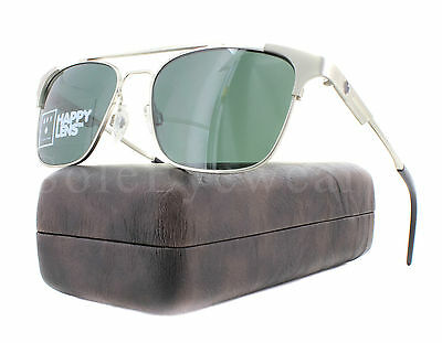 e13c674596 NEW Spy Optics Westport 673363869863 Matte Silver   Happy Gray Green  Sunglass