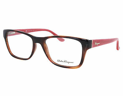 new salvatore ferragamo sf2687 207 52mm havana red optical eyeglasses frames