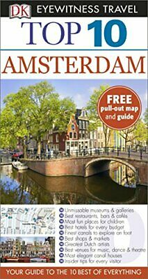 DK Eyewitness Top 10 Travel Guide Amsterdam by DK Book The Cheap Fast Free Post
