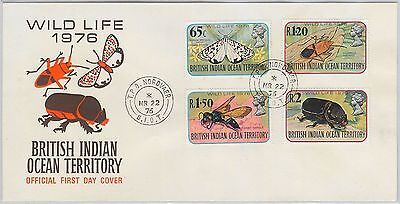 British Indian Ocean Territory BIOT - POSTAL HISTORY: FDC Cover BUTTERFLIES