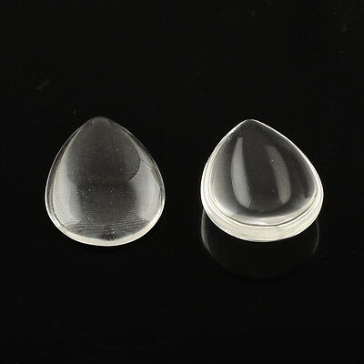 Teardrop Clear Glass Cabochons, Drop Flat Cabs, Glass Dome Cabs ~ various sizes