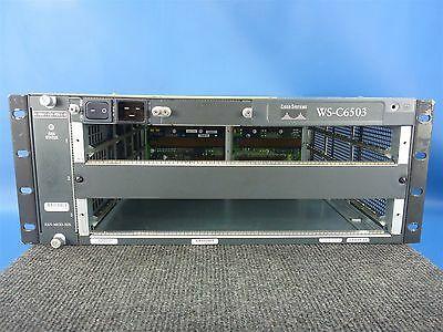 Cisco Catalyst WS-6503 Modular Switch Router Chassis w/Power Supply & Fan Module
