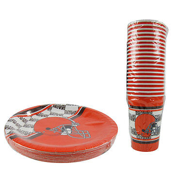 New NFL Cleveland Browns 40 Disposable Paper Plates Cups Party-Ware Supplies  sc 1 st  PicClick & NEW NFL DALLAS Cowboys 40 Disposable Paper Plates Cups Party-Ware ...