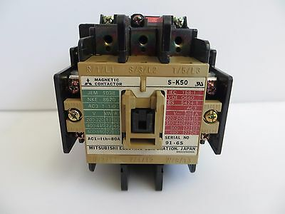 MITSUBISHI Magnetic Electric Contactor S-K50 AC 200V