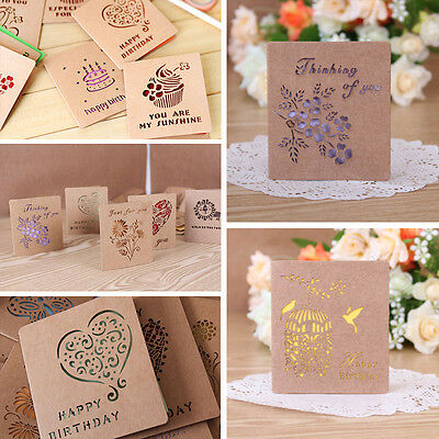 Greeting Cards W/Envelope Visual 3D Box Gift Cards Leave Message Paper Card Sale