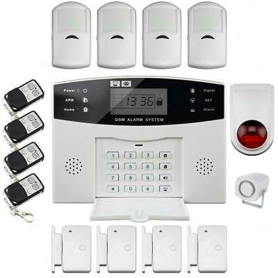 Lcd Wireless Gsm Autodial Sms Alarm  Home House Office Security Burglar