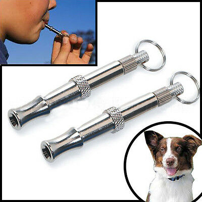 Dog Train Whistle UltraSonic Stop Barking Patrol Repellent Silent High Pitch