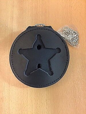 Recessed Badge Holder For 5 Point Star, Police, Sheriff, Marshall