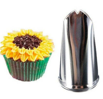 FD3642 Sunflower Leaf Cupcake Fondant Icing Piping Nozzles Pastry Cake Decor x1♫