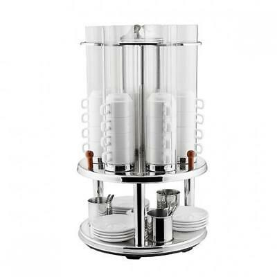 Revolving Cup Dispenser, Holds 48 Cups, Stainless Steel, Coffee Tea Beverage NEW