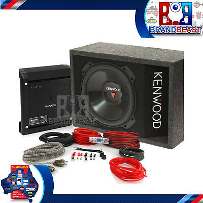 "Kenwood 3016box 12"" 2000w Subwoofer + Amplifier Sub Amp Box Kfc-ps3016w X501-1"