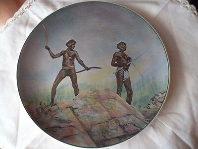Royal Doulton Australian Aborigines With Aboriginal Hunting Weapons China Plate