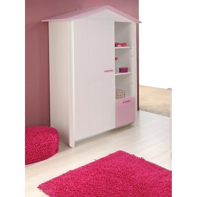 parisot kleiderschrank biotiful m dchen sachen schrank kinderzimmer wei rosa eur 249 00. Black Bedroom Furniture Sets. Home Design Ideas