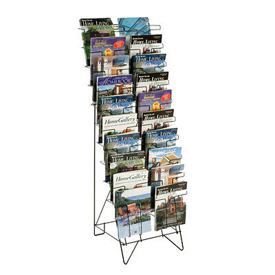 10-Tiered Wire Floor Literature Stand Magazines Holder Newspaper Display