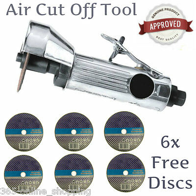 "New 3"" WORKSHOP AIR CUT OFF TOOL GRINDER CUTTER TOOLS & 6 FREE CUTTING DISCS"