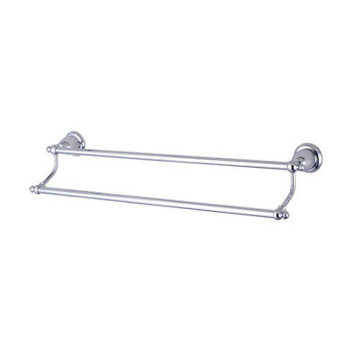 """Elements of Design English Vintage 24"""" Wall Mounted Dual Towel Bar Chrome"""