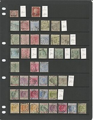 Cyprus Very Fine Used Collection on 2 pages QV-GV. Cats £1960+. Better Items.