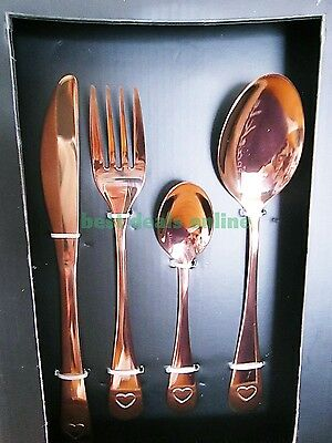 16 Piece Cutlery Set Copper/Rose Gold  SLEEK AND STYLISH