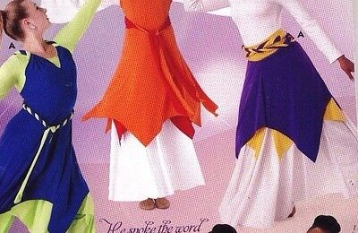 NWT Liturgical Reversible Dress skirt Multi use Spandex Praise 2 color choices
