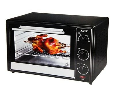 AFK Oven with Rotisserie 28L Grill Toaster oven oven Timer 1500W BO-28R