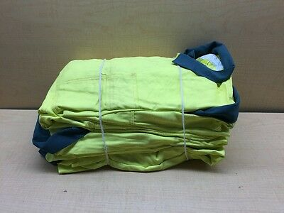 Lot Of 6 Euclid Safety Coveralls Size LARGE Yellow