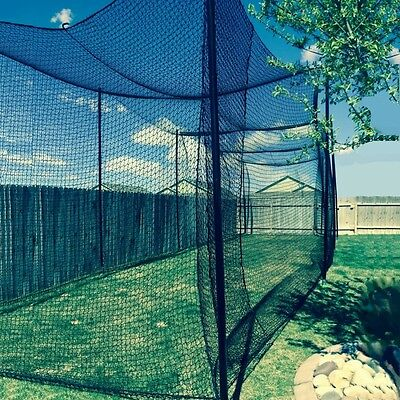 12' X 12' X 35' Batting Cage Net (#36), Rope Edges, NEW