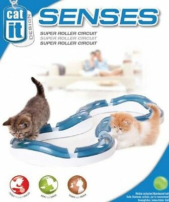 Catit Super Roller Circuit Track Cat Tube Play Maze With Illuminated ball