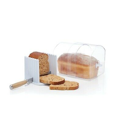 Kitchen Craft Expanding Stay Fresh Acrylic Bread Keeper And Slicer