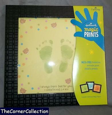 Hallmark Dayspring Magic Prints Baby Handprint Footprint Mess Free Frame Kit