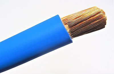 30'  1/0 Awg Welding/Battery Cable Blue 600V Made In Usa Copper Epdm Jacket