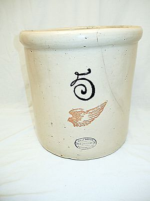 Vintage Red Wing 5 Gallon  Crock Union Stoneware-Red Wing, Mn