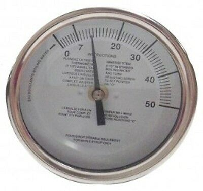 Baker T3109MSSP Maple Syrup Stem Thermometer, 3 Dial, 9 Stem