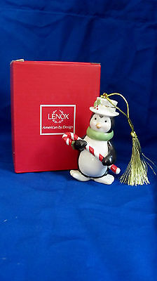 Lenox Very Merry Christmas Penguin Ornament with Gift Box Porcelain